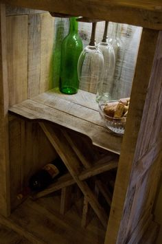 recycled oak pallet wine rack by jeffpmiller on Etsy, $1150.00