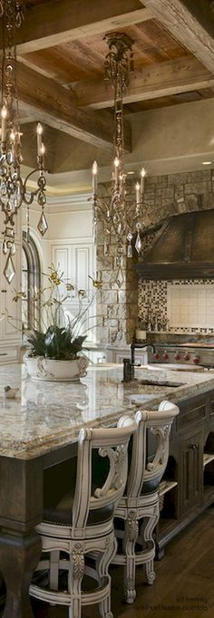 wonderful french country house kitchen design and decor ideas - amazi . - Wonderful French Country Kitchen Design and Decor Ideas – Amazing French Country Kitchen - French Country Rug, French Country Kitchens, French Country Bedrooms, French Country Decorating, Rustic French, Country Décor, Tuscan Kitchens, Country Bathrooms, French Country Lighting