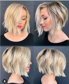 Short Textured Hair, Short Thin Hair, Textured Bob, Thin Hair Bobs, Color For Short Hair, Short Blonde Bobs, Medium Hair Styles, Short Hair Styles, Thin Hair Styles For Women