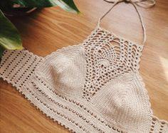 Crochet halter Crochet crop top Crochet top by HarleyQCrochet