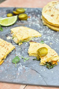 Sweet Potato and Spinach Quesadilla