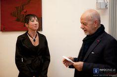 #Bilder von der #Vernissage 'Irgendwo...' #Urania, Freitag, 18.10.2013. Die Bilder dieser Ausstellung der Künstlerin #Margit #Kottié entführen in teils fiktive Welten, Weiten und Zukünfte.