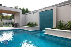 Tiles on Bradman Drive Pool Ideas - Ocean Spray with Feature Bisazza