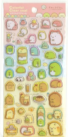 Kawaii Japan epossidica Sticker Sheet Assort: Sumikko Gurashi Clear Seal 4 caratteri