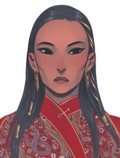 Сорхахтани uwu В китайском прикиде) любовь к китайским ништякам в моем хэдканоне их семейное х) А еще она лопоухенькая немножк uwu торчащие ушки uwu [изображение] — Родной юрт