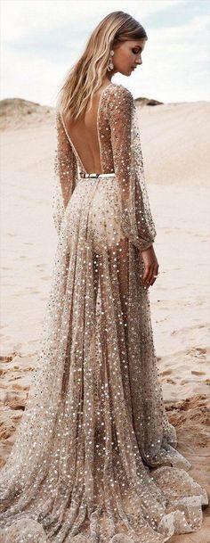 Stunning Open back Beach wedding dress | Fashion style