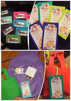 Toddler goody bag - art theme