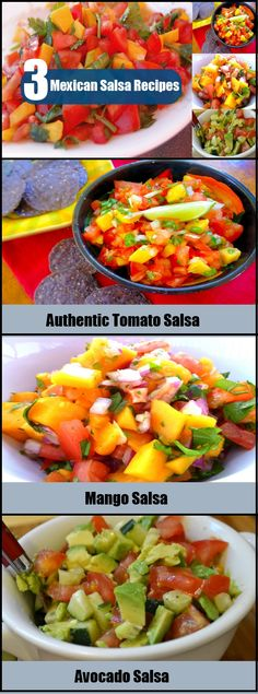 Light, delicious and healthy, salsa can make even a simple dish irresistible. Mexican salsa is a tomato-based spicy sauce that is popular all over the world for Homemade Mexican Salsa, Mexican Salsa Recipes, Spanish Food, Spanish Recipes, Fruit Salsa, Spicy Sauce, Tex Mex, Favorite Recipes, Dishes
