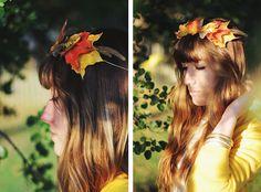 DIY Leaf Crown