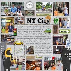 new york city scrapbook layouts - Yahoo Image Search Results Travel Scrapbook Pages, Vacation Scrapbook, Scrapbook Journal, Scrapbook Sketches, Scrapbook Page Layouts, Scrapbook Cards, New York Scrapbooking, Scrapbooking Ideas, Photos Encadrées