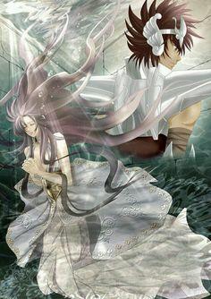 Seiya e Saori - Saga de Poseidon