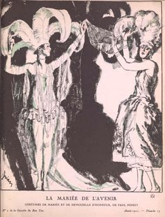 Sketch by Drian of the Dolly Sisters wearing Paul Poiret costumes in League of Notions, London, 1921 - YOONIQ Images - Stock photos, Illustrations & Video footage Paul Poiret, 1920s Art Deco, Art Deco Period, Art Deco Fashion, Fashion Prints, Fashion Design, Moda Art Deco, Dolly Sisters, Posters Vintage
