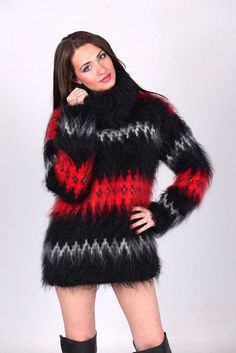 35 Women Cozy Sweaters Trending Now - Fashion New Trends Tumblr Outfits, Chic Outfits, Fashion Outfits, Fashion Trends, Gros Pull Mohair, Knitwear Fashion, Mohair Sweater, Sweater Outfits, Turtleneck Outfit