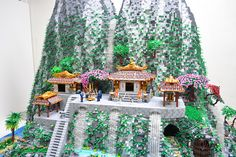 This week's MOC of the week is almost as breathtaking in LEGO form as it would be if you happened upon a real-life version of this scene. This masterpiece was on display at Brickworld last month where it won Best Individual Layout for its builder, Ben Pitchford. The beautiful scene features beautiful Japanese architecture, cherry blossoms, waterfalls, Samurai, a volcano, and a stunning mountain. Even cooler is that parts of the MOC light up. #LEGO #Minifigure #BrickWarriors #MOC #Samurai…