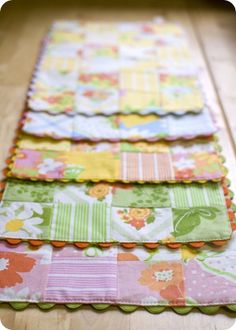 Placemats made from vintage linens