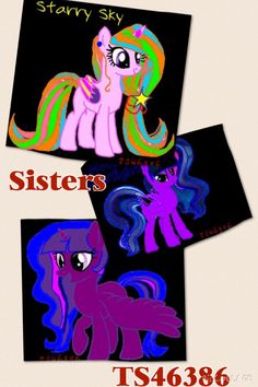 The sisters:Starry Sky, Moona Starlight, and NightFall.