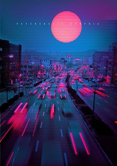vaporwave city Neon City on Behance Aesthetic Light, City Aesthetic, Purple Aesthetic, Cyberpunk Aesthetic, Cyberpunk City, New Retro Wave, Retro Waves, Neon Wallpaper, Wallpaper Backgrounds