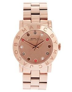 Enlarge Marc By Marc Jacobs Rose Gold With Jewel Stone Dial Bracelet Watch