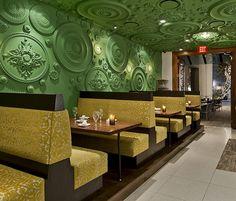 Italian Restaurant Covered in More Than 1,400 Green Medallions (5)