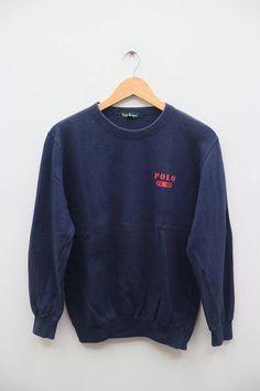 5e8407a4af Vintage POLO Ralph Lauren FL-92 Small Logo Blue Pullover