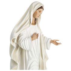 Nossa Senhora Medjugorje fibra vidro 60 cm PARA EXTERIOR | venda online na HOLYART Catholic Altar, Exterior, Mary Jesus Mother, Religious Pictures, Fiber, Holy Rosary, Queen, Peace, Outdoors
