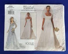 Vogue Wedding Dress Pattern Bellville Sassoon Bridal Original SZ 12 14 16 Uncut #VoguePatterns #Semifittedfloorlength