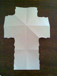 cool paper cross craft
