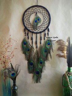 """Купить Ловец Снов """"Peacock"""" - красивый ловец снов, необычный ловец снов, необычный подарок"""