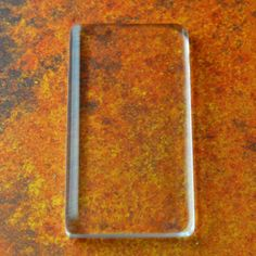 6 Glass rectangle tiles For Making Photo jewelry necklaces  25 mm x 50 mm Fit in my rectangle pendants I sell