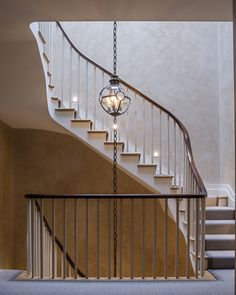 A neoclassically simple staircase in a Kensington house. Photo: Andreas von Einsiedel Interiors
