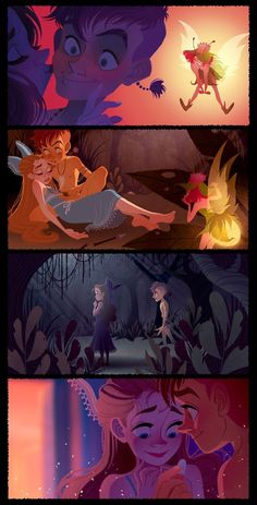 Re-imagining of iconic scenes from Peter Pan: