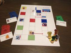 bordspel met opdrachtkaarten