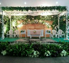 Please visit postingan Decor Rustic Pernikahan To read the full article by click the link above. Wedding Stage Backdrop, Wedding Backdrop Design, Wedding Stage Design, Rustic Wedding Backdrops, Garden Wedding Decorations, Backdrop Decorations, Marriage Decoration, Wedding Mood Board, Wedding Preparation