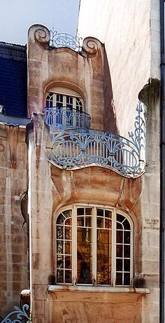 The Brion Hotel in Strasbourg probably the only art nouveau building left there..