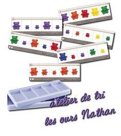 La maternelle de Laurène: Ours de tri Nathan