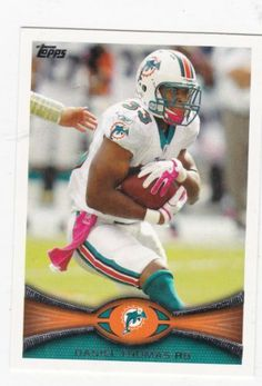 2012 Topps Football Card # 59 Daniel Thomas - Miami Dolphins (NFL Trading Card) by Topps. $3.36. 2012 Topps Football Card # 59 Daniel Thomas - Miami Dolphins (NFL Trading Card)
