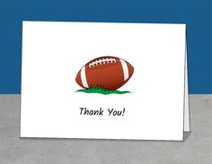 Thank You Coach Card, Football, Mentor, Team or Player Gift, Printable Card