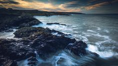 Sea & Sky - A long exposure, landscape image of the coastline at Portsoy in Moray, Scotland, at sunset on a beautiful day. This was taken before the big storm hit the country so the sky was pretty amazing and the sea was nicely whipped up. (Photo by Neil Hamilton Photography on 500px)