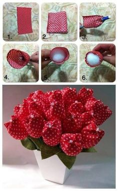 Best 12 You don't know how to make fabric flower? Checkout these 50 DIY fabric flowers tutorial that will soon leave you as a professional fabric flower maker! Felt Flowers, Diy Flowers, Fabric Flowers, Paper Flowers, Felt Crafts, Fabric Crafts, Sewing Crafts, Diy And Crafts, Fabric Flower Tutorial