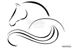 Vecteur : Horse logo vector