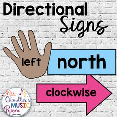 This is a set of signs to use in any classroom to get students oriented to directions and the different ways we express them. Included in the set are: Clockwise Counterclockwise Left and Right hands (with three choices of skin tone) North South East West