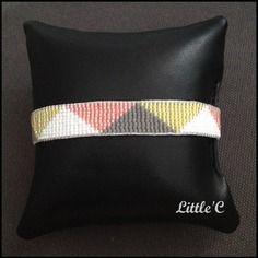 Bracelet tissé en perles miyuki - motif triangle - 9 rangs