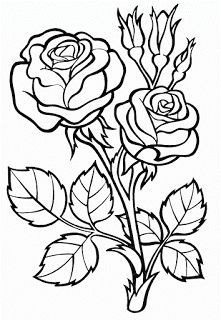 flower coloring pages easy . Discover our huge assortment of Coloring pages, with different classes and difficulties degrees. The perfect Anti-stress activity for you. Rose Coloring Pages, Printable Flower Coloring Pages, Vegetable Coloring Pages, Printable Adult Coloring Pages, Coloring Pages For Kids, Coloring Books, Beautiful Flower Drawings, Simple Rose, Easy Rose
