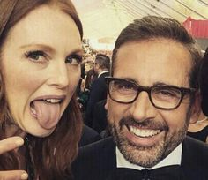 Julianne Moore and Steve Carell James Marsden, Steve Carell, Julianne Moore, Big Hair, Celebs, Celebrities, Handsome, In This Moment, Selfie