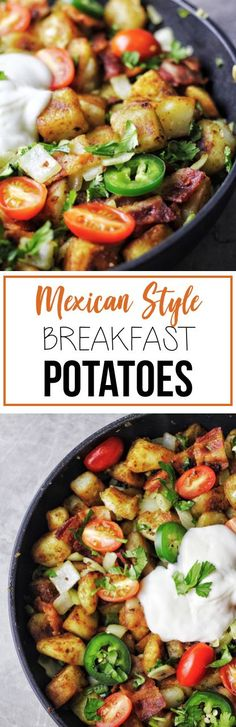 Delicious Mexican-Style Breakfast with crispy potatoes.