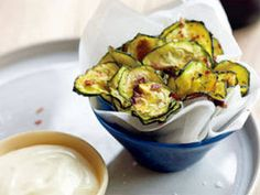 Zucchini Chips with Aioli recipe - Prevention Magazine - Yahoo!7 Lifestyle