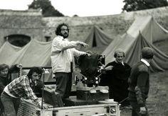 Stanley Kubrick filming Barry Lyndon. Still photographer- Keith Hamshere