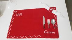 Valentine's Day Your Name Set Of Placemats  by ArtofAccessory