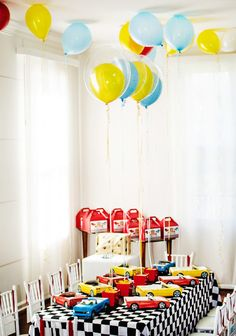 Bold, Fast & Classic Race Car Birthday Party // Hostess with the Mostess®