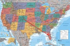 A great United States of America Map poster! Includes state capitals, major cities, bodies of water, and topography. Find your way over and check out t